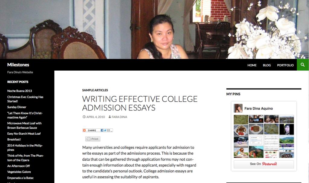 effective college essays